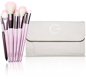 Premium Synthetic Makeup Brush Set 20 Piece – Cosmetics Brush Kit with White Pouch
