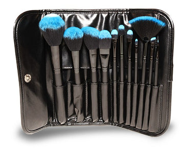 11 Piece – Synthetic Professional Makeup Brush Set with Pouch