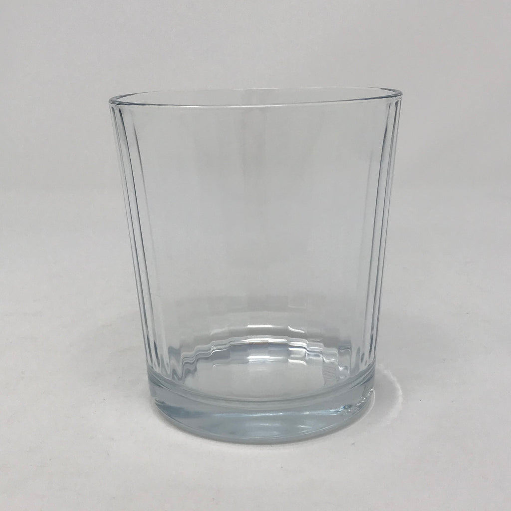 Short Tumbler with Vertical Faceting