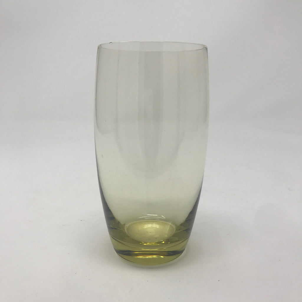 Tall Yellow Juice Glass