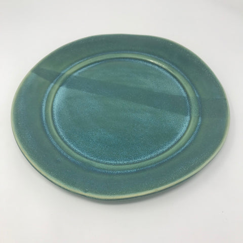Handmade Teal Green Dinner Plate