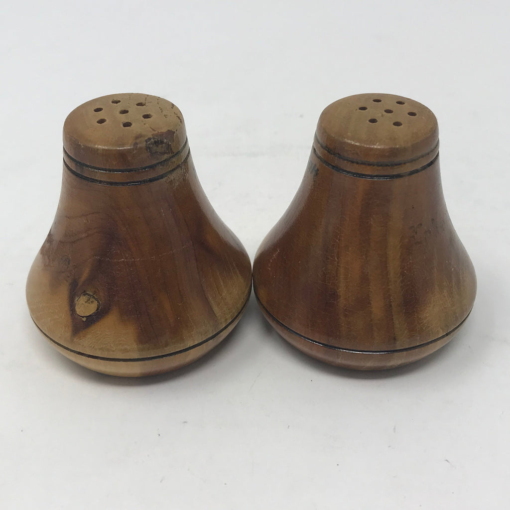 SET: Wooden Salt and Pepper Shakers