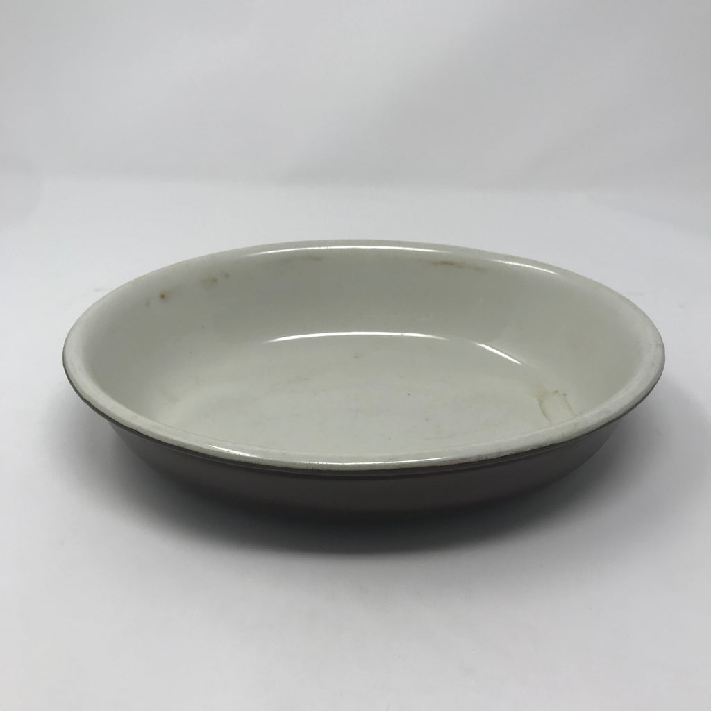 Low Blue Baking Dish with Cream Well