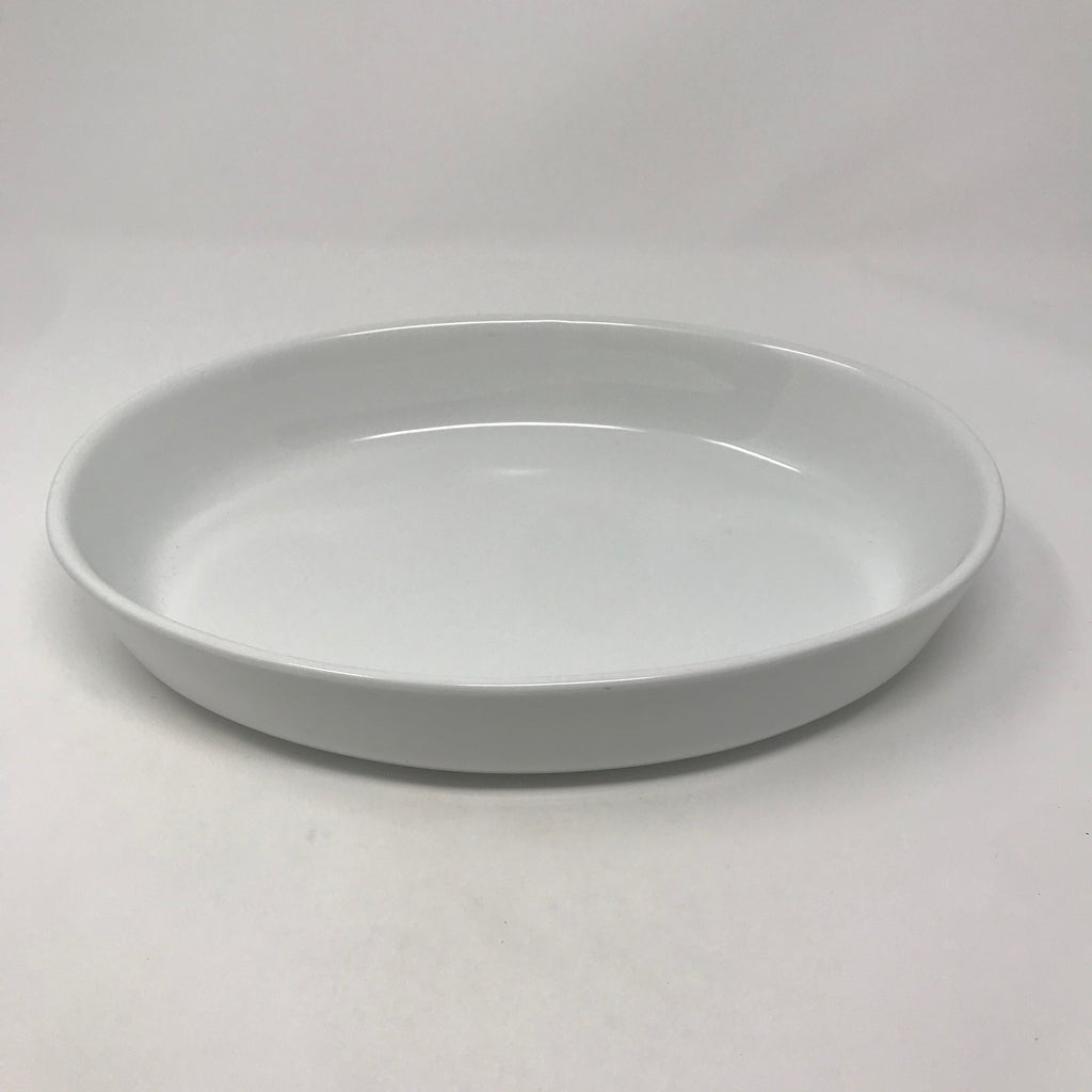 Cream Oval Baking Dish