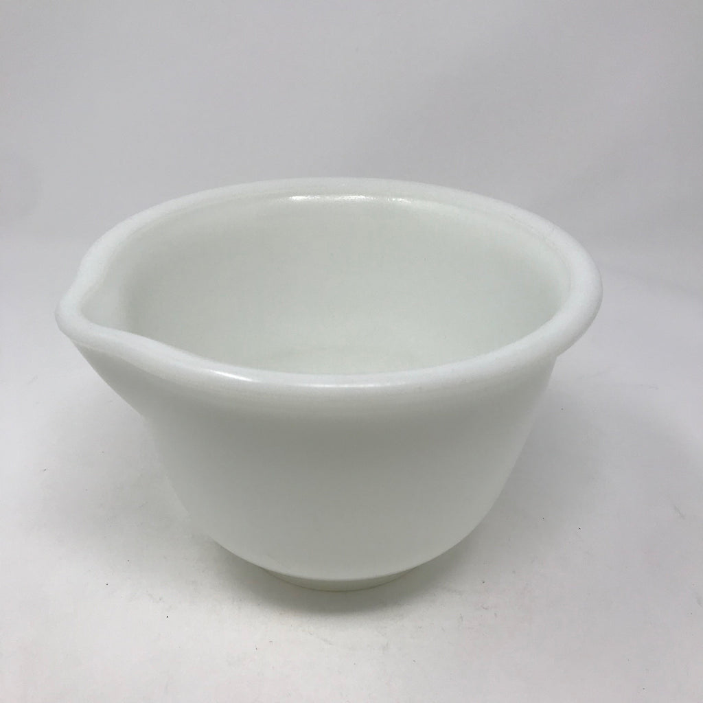 Small White Mixing Bowl with Spout