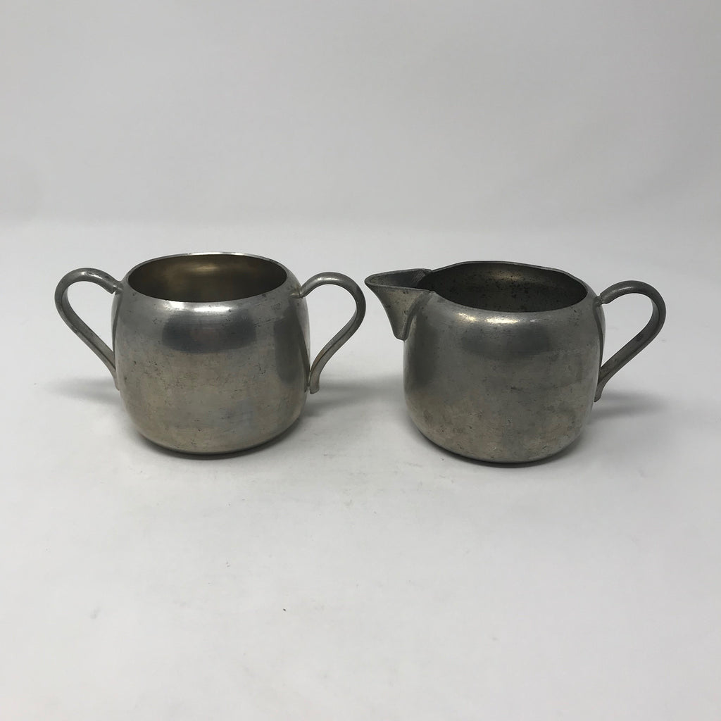 Metal Cream & Sugar Set