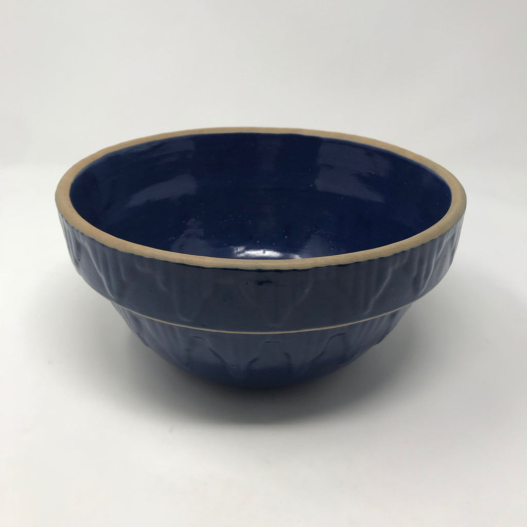 Vintage Ceramic Blue Mixing Bowl