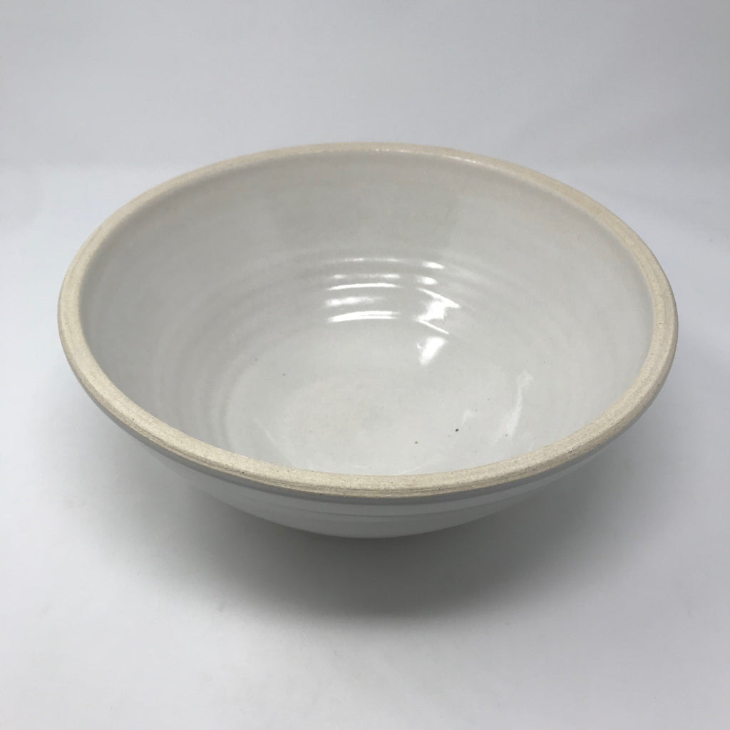 Handmade Cream Serving Bowl
