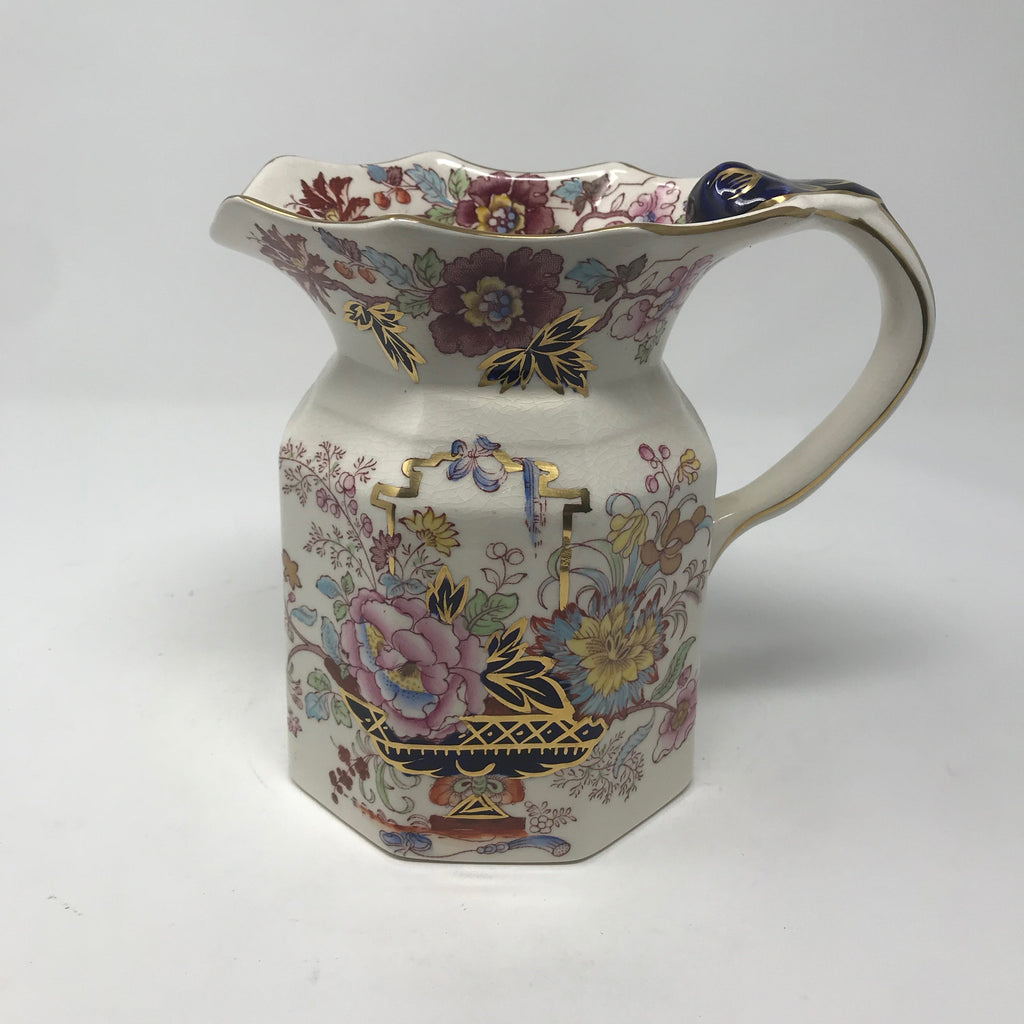 Transferware Brocade Pitcher