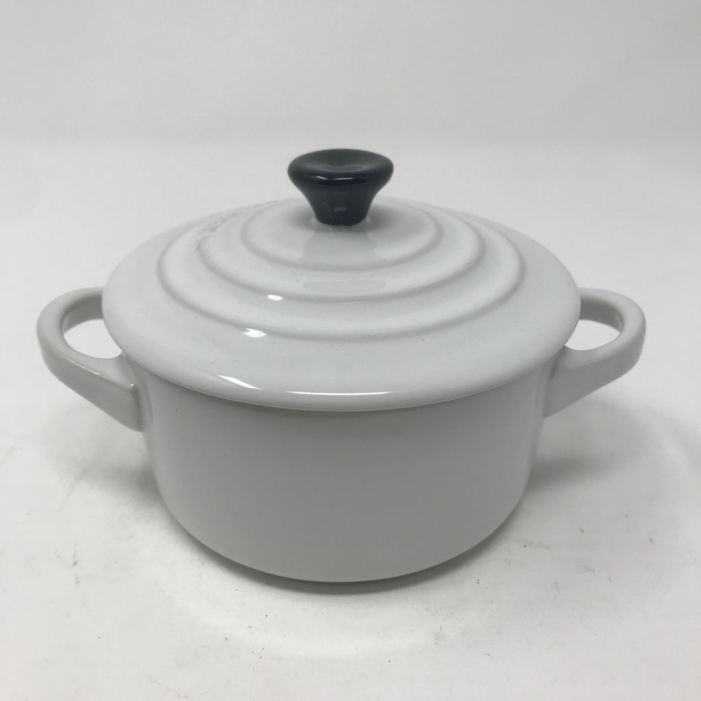 White Ramekin with Lid