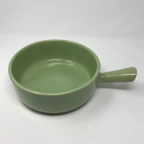 Large Green Lug Handled Bowl