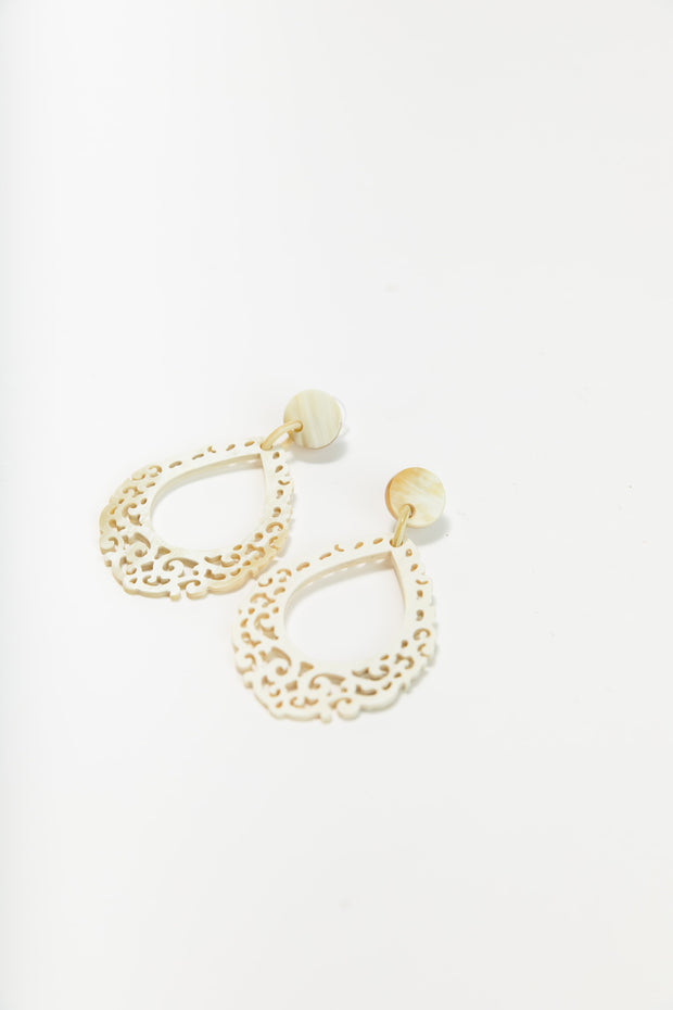 Plaza Horn Earrings
