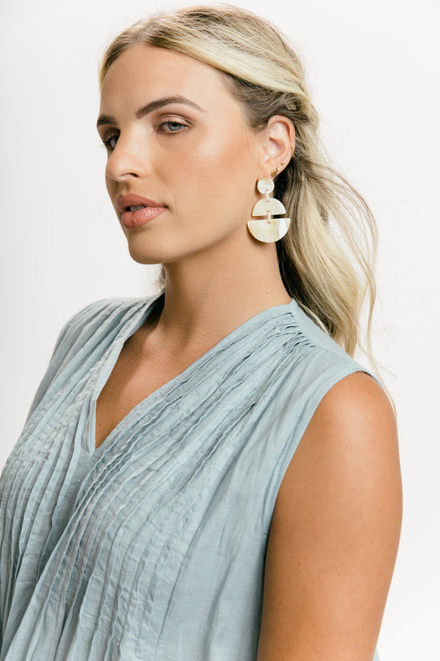 Half Moon Horn Earrings