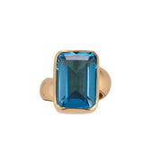 Cerulean Topaz Keeper Ring