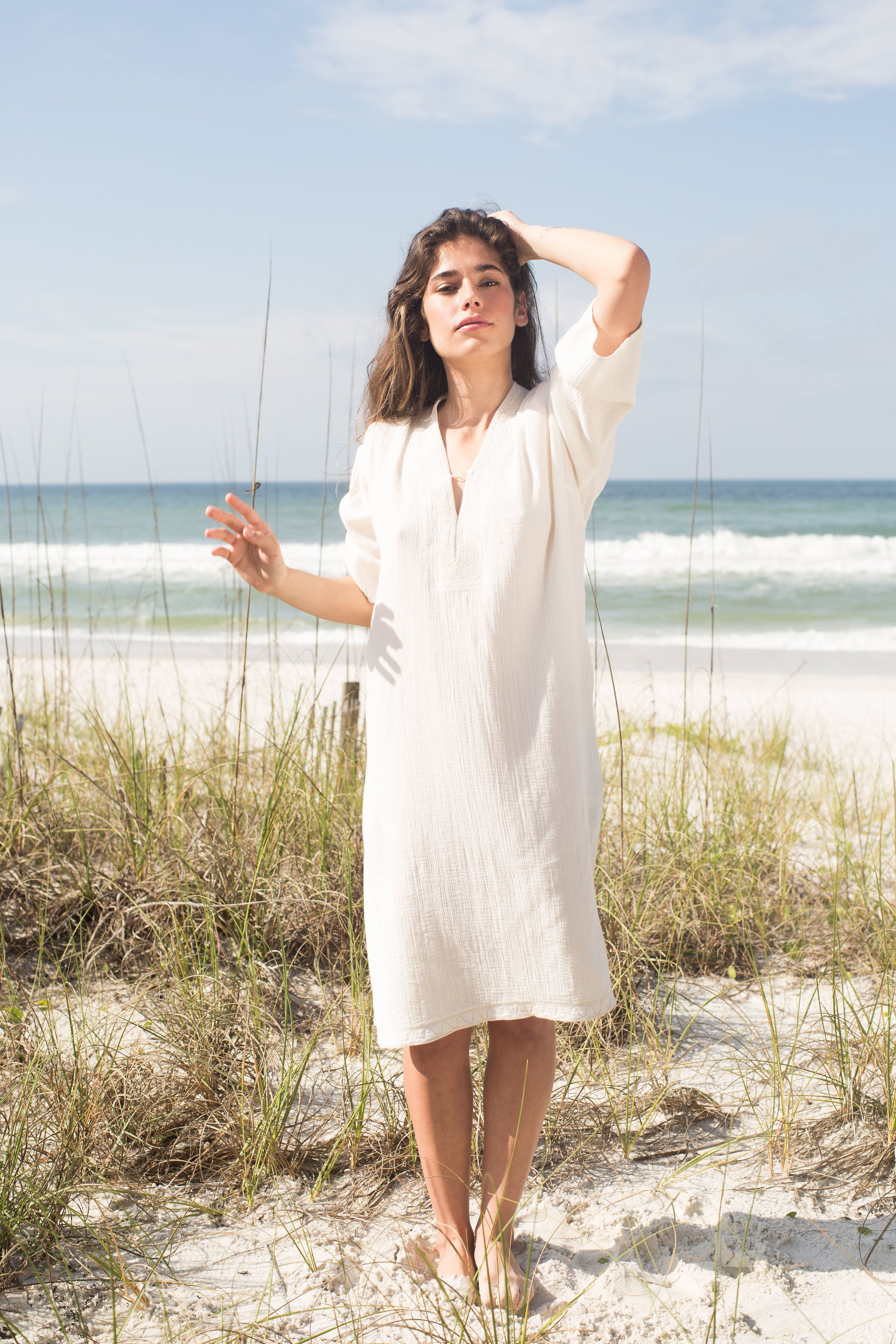 Dunes Embroidered Caftan