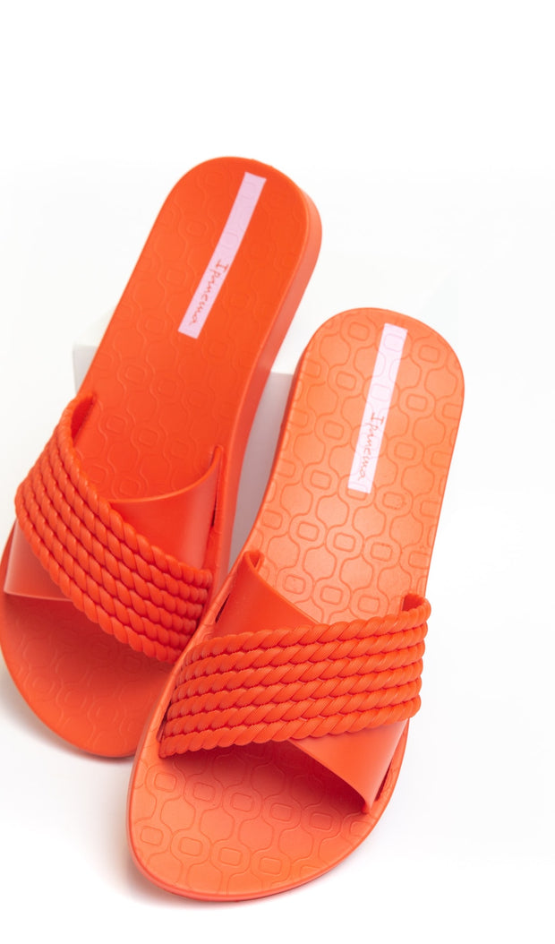 Braided Slides - Riviera Orange