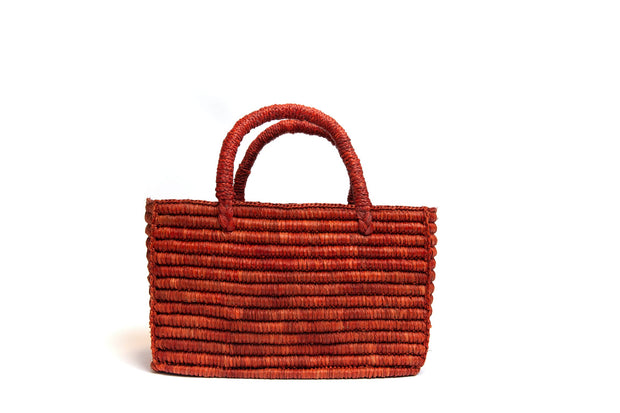 Vivienne Straw Purse - Cypress Bark