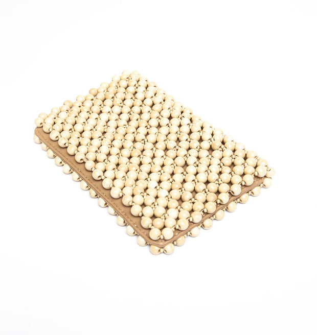 Portofino Beaded Clutch - Natural