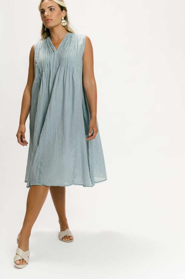 Beach Dress - Grey Blue