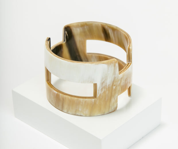 Carved Horn Bangle