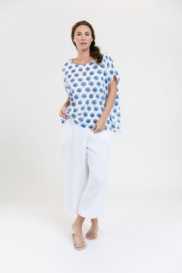 Poncho Tee - Catalina Blue Palms