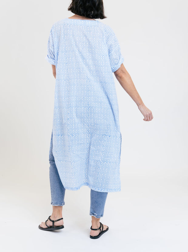 Cotton Paragon Caftan - Cornflower