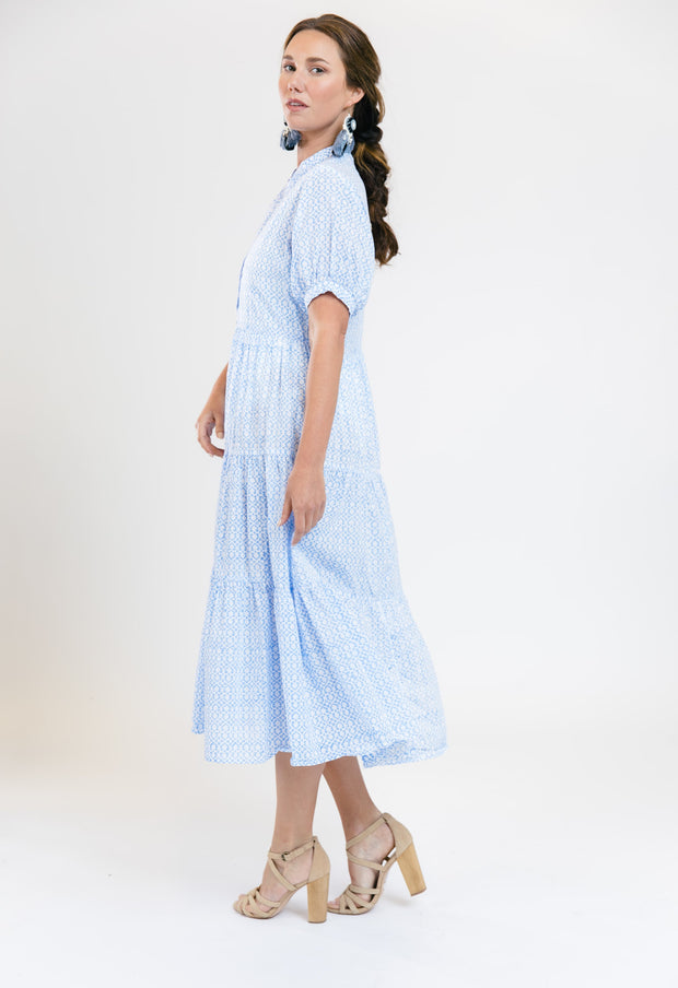Resort Dress - Cornflower
