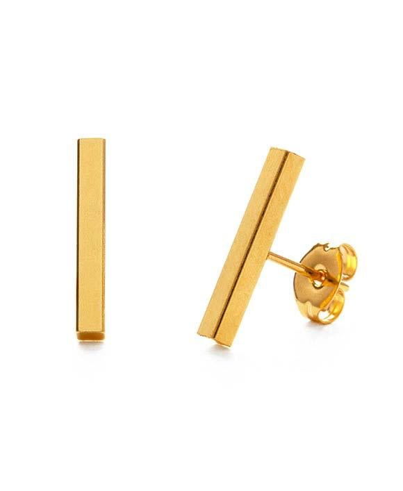 Gold Bars Earrings