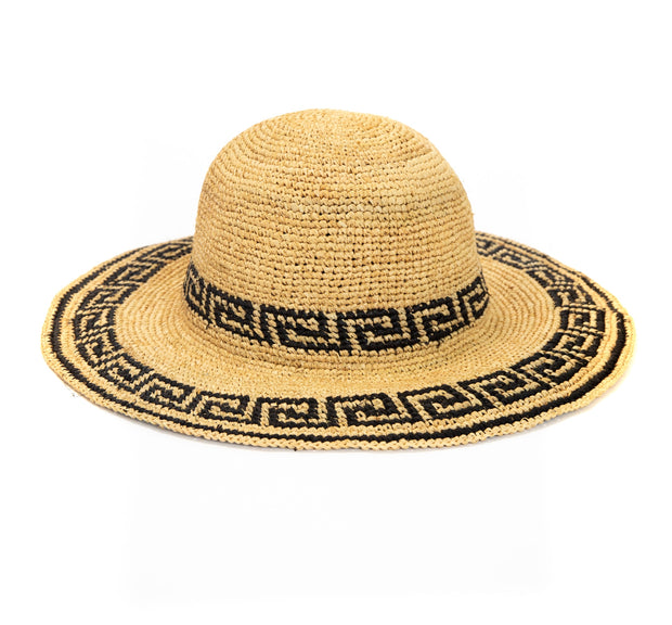 Greek Key Straw Hat
