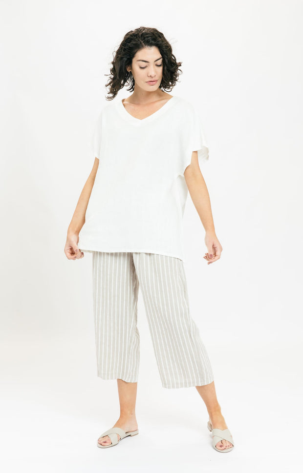 Just Right Linen Tunic - Ivory