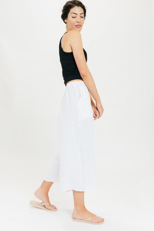 Porch Cropped Pant - White