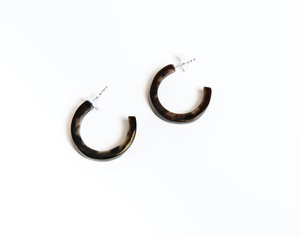 Midi Horn Hoop Earrings
