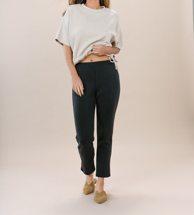 Modal Ankle Pant - Black