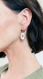 Mother of Pearl Drop Earrings
