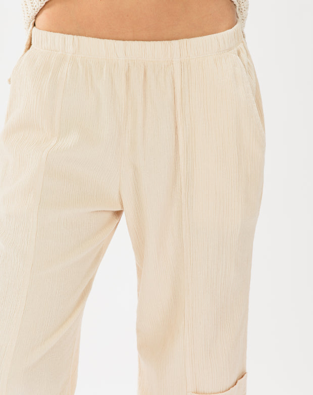 Pocket Jogger Pants, Creme
