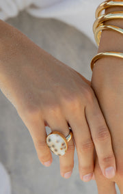Spotted Cowrie Ring
