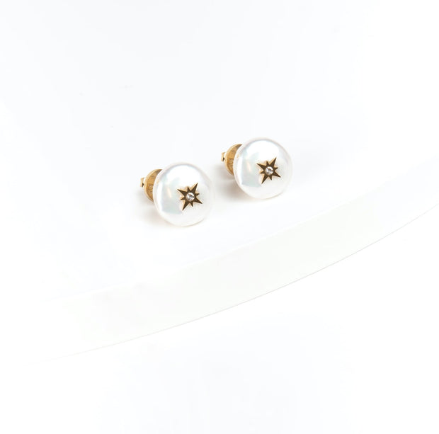 Starlight Pearl Post Earrings