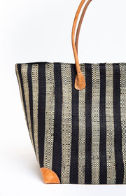 Stripes Tote - Ebony