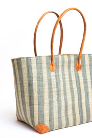 Stripes Tote - Sea Gray