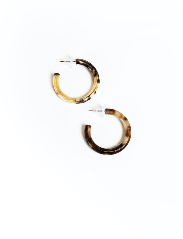 Thin Horn Hoop Earrings