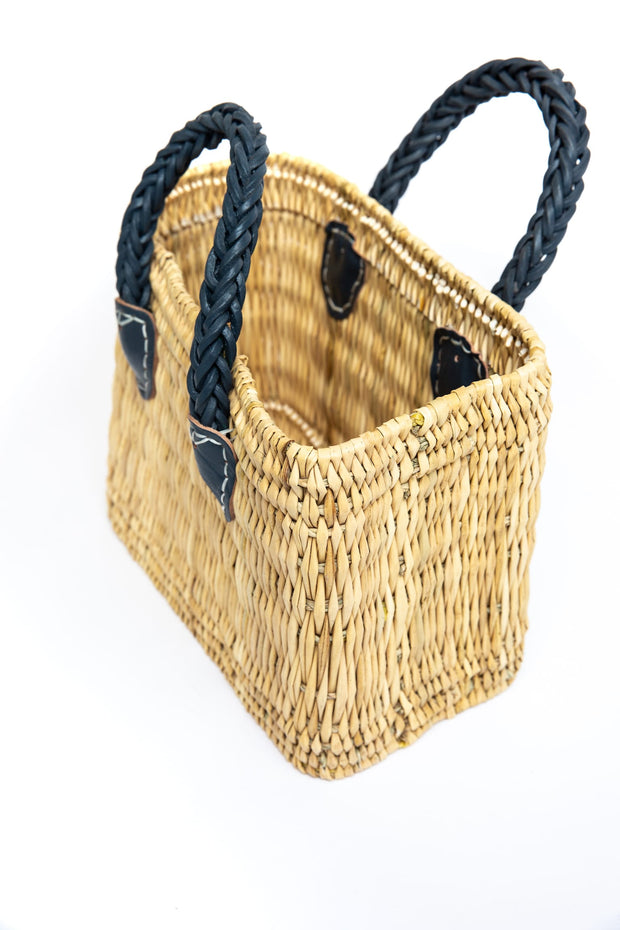 Vega Straw Bag - Aegean Blue