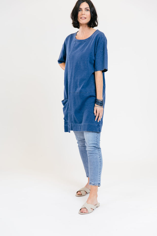 Go-To Tunic Dress - Sea Blue