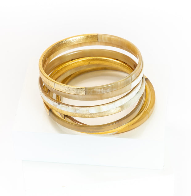 Golden Sun Thin Horn Bangles