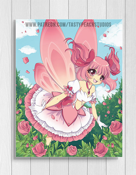 Madoka Magical Rose Fairy Print