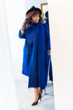 Mohair oversized wrap coat