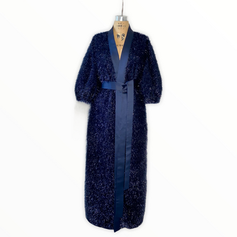 Metallic lurex Cardigan/Coat Dress