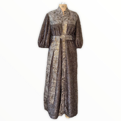 Metallic Cardigan Dress Coat