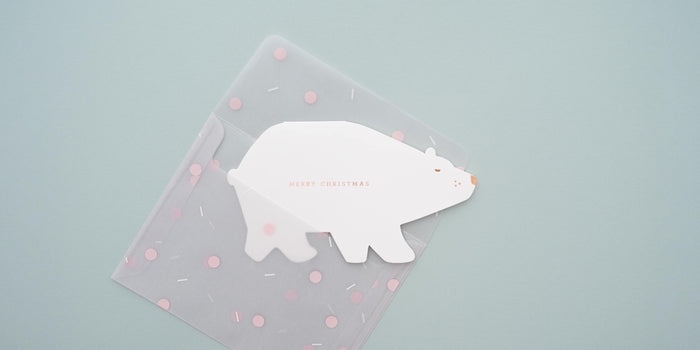 Polar Bear Confetti Card