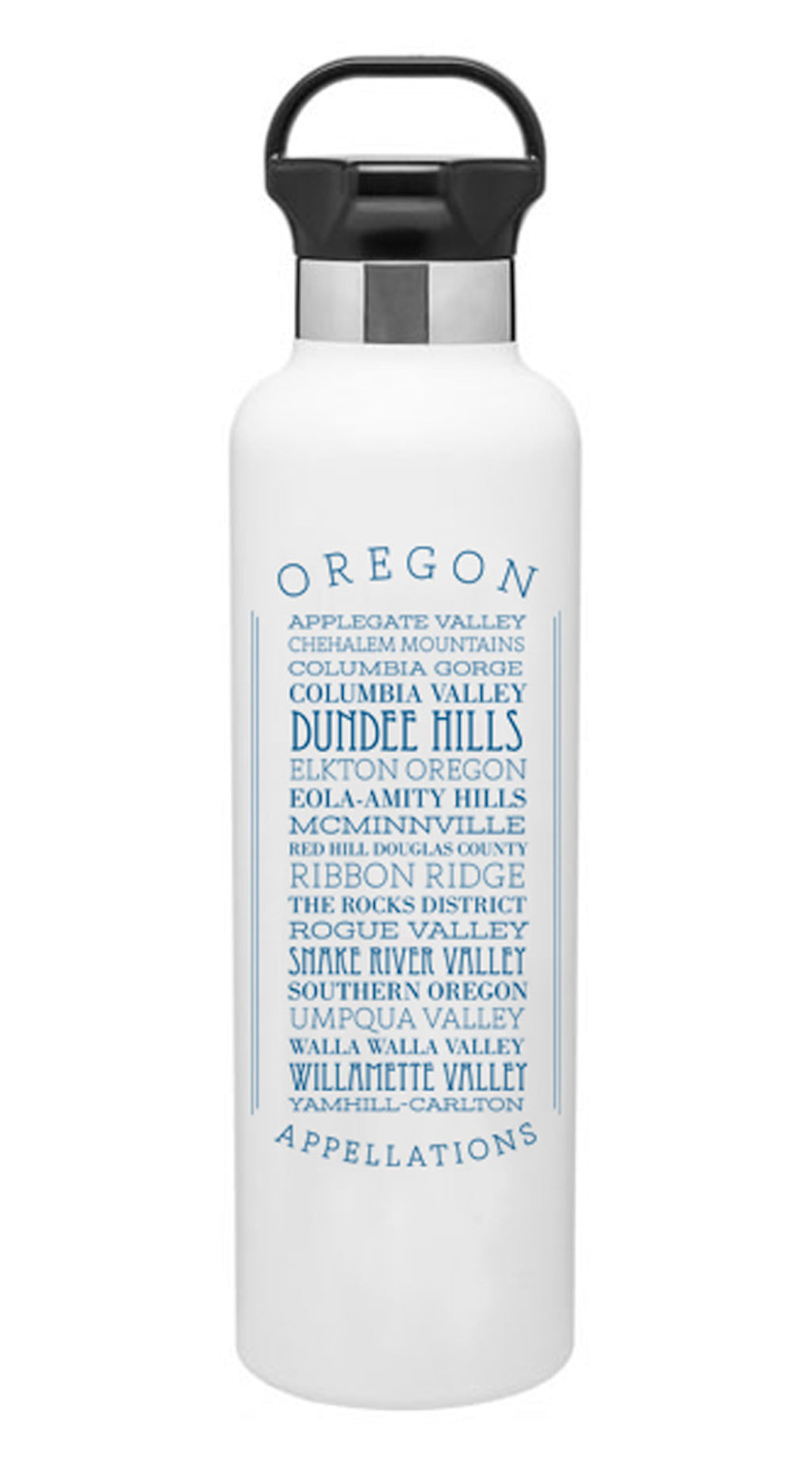 Appellations Oregon Stainless Steel Water Bottle