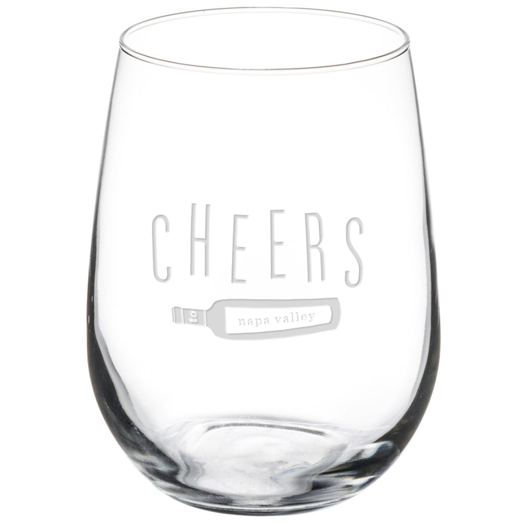 Cheers to Napa Stemless Glasses - Set of 4